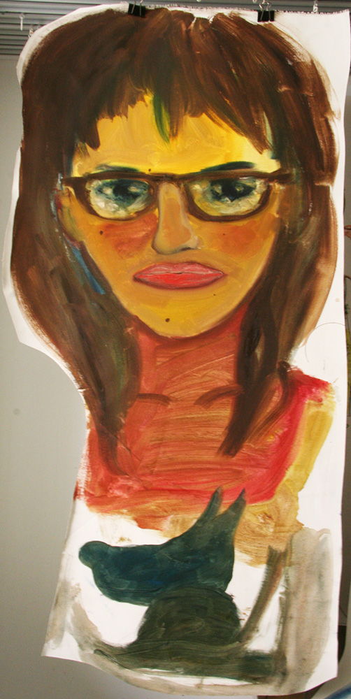 Girl with glasses - 70x30 cm
