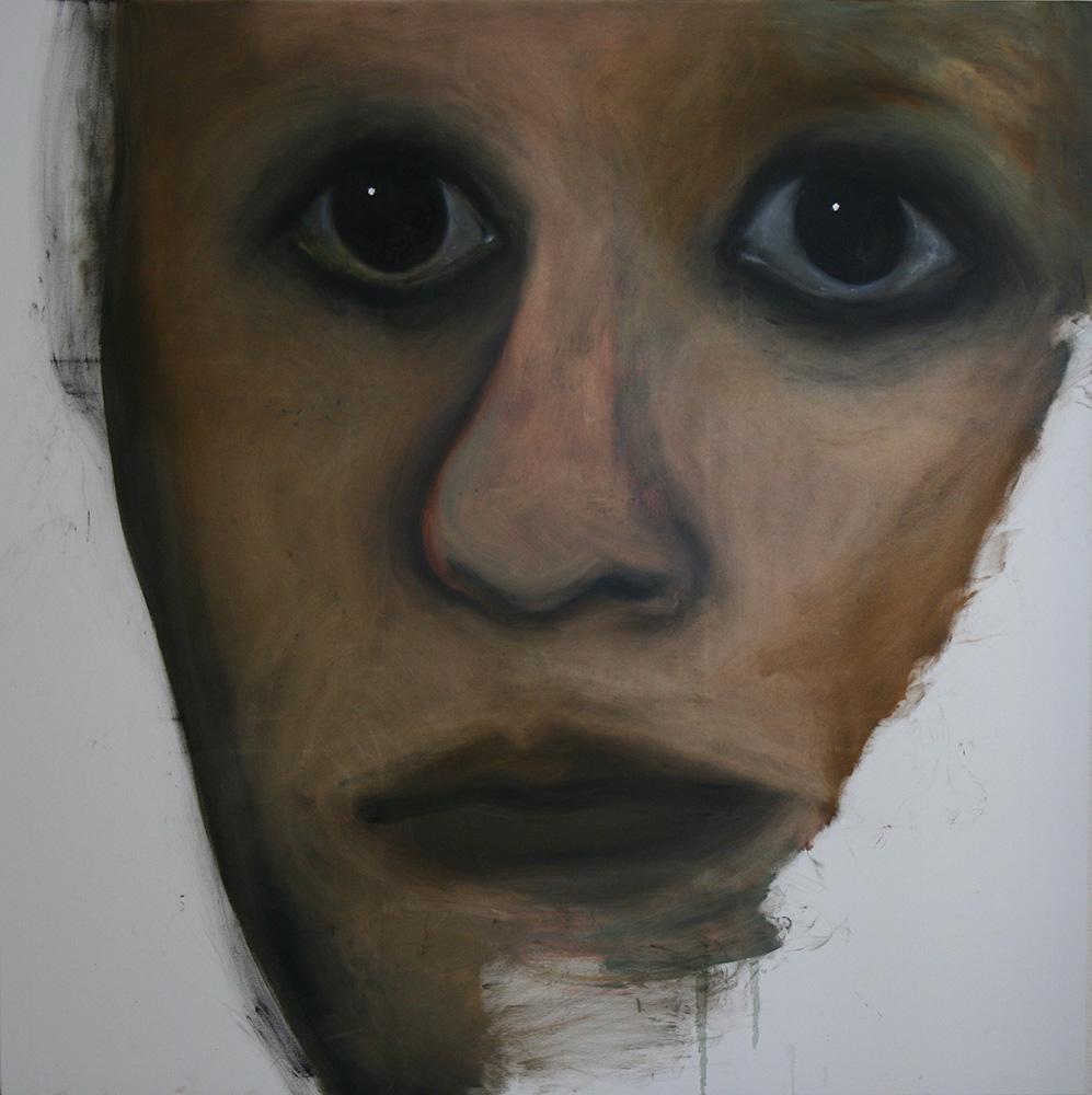 Faces - oil painting 006 - 150cm x 150cm
