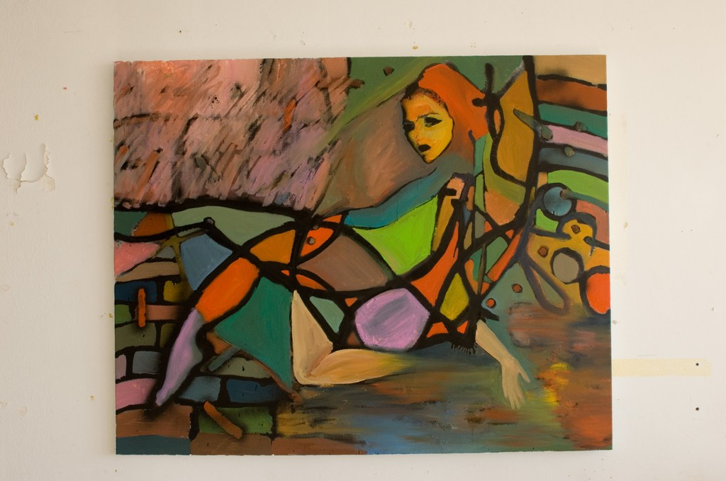 Girl on a Swing - 100cm x 70cm