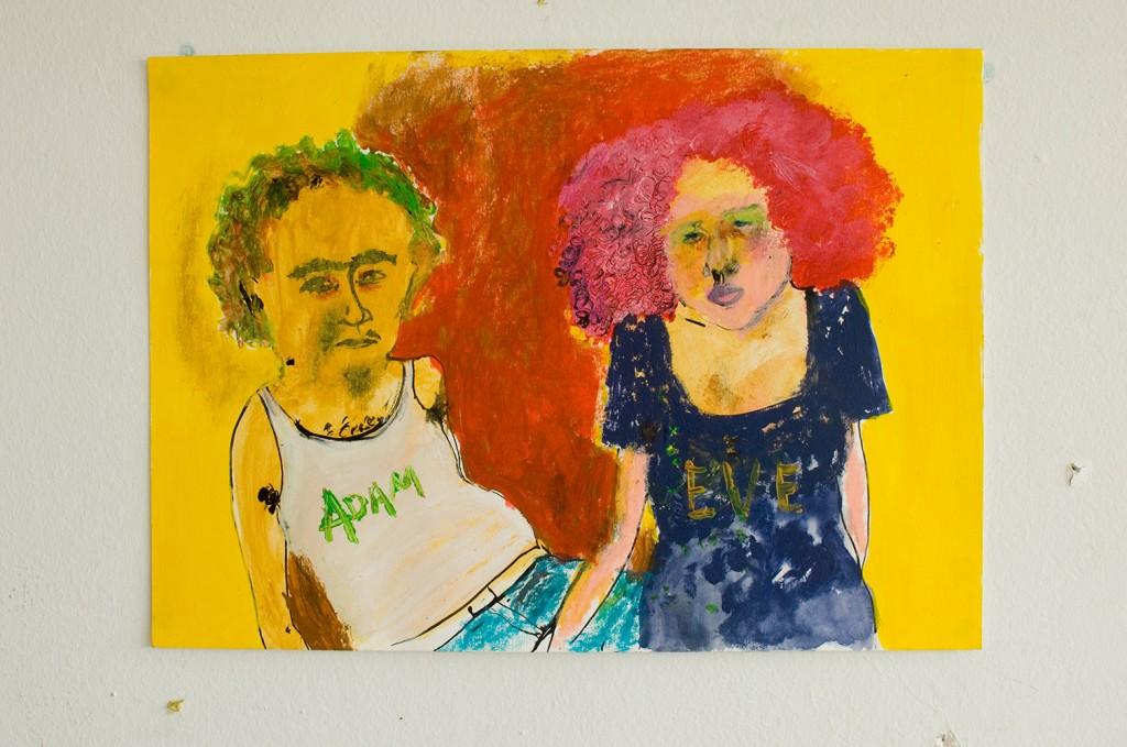 Adam and Eve - 25cm x 36cm